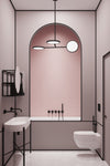 Art Deco Pink Pastel Bathroom Interior Design by MOXON London