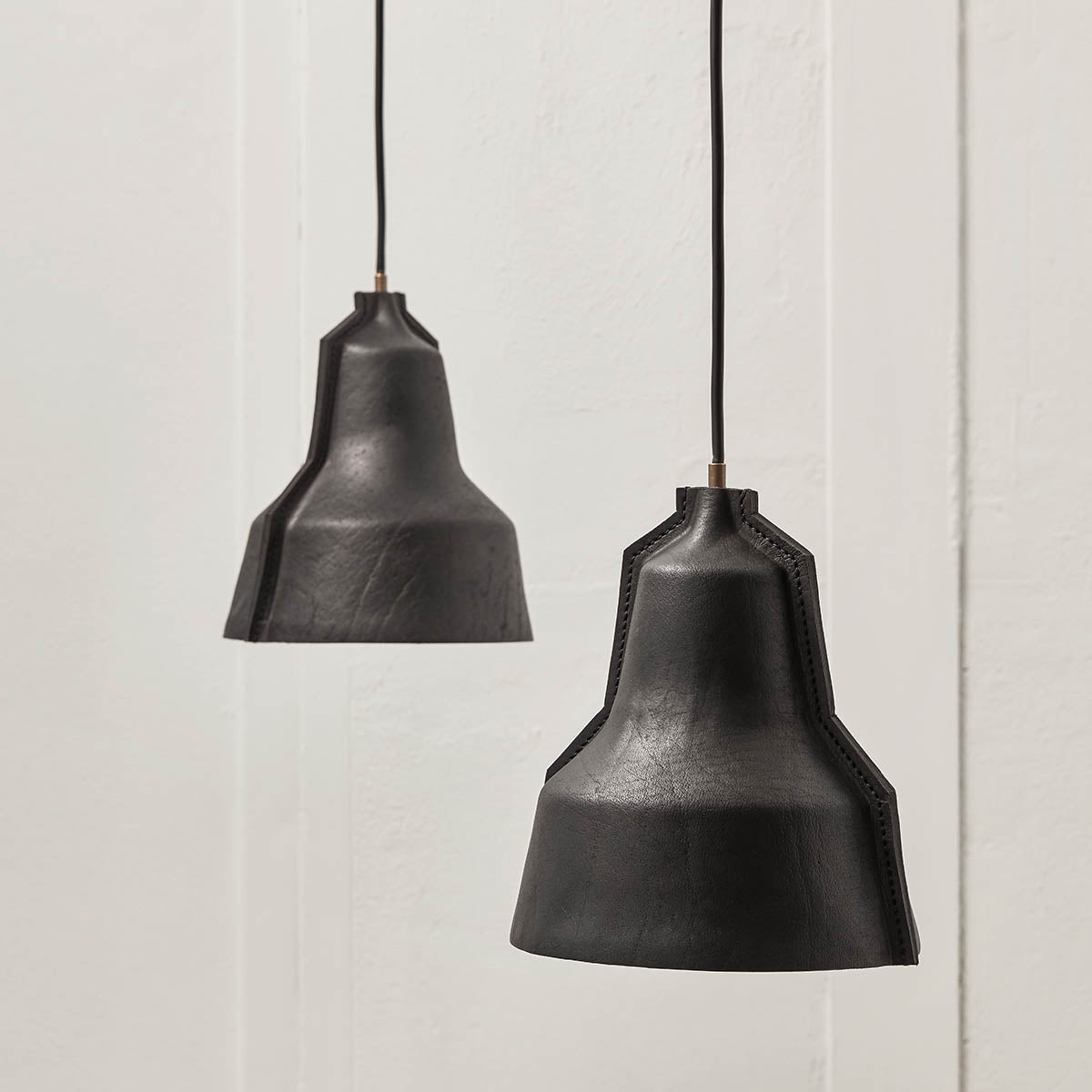 Hand Stitched Leather Lamp Shade