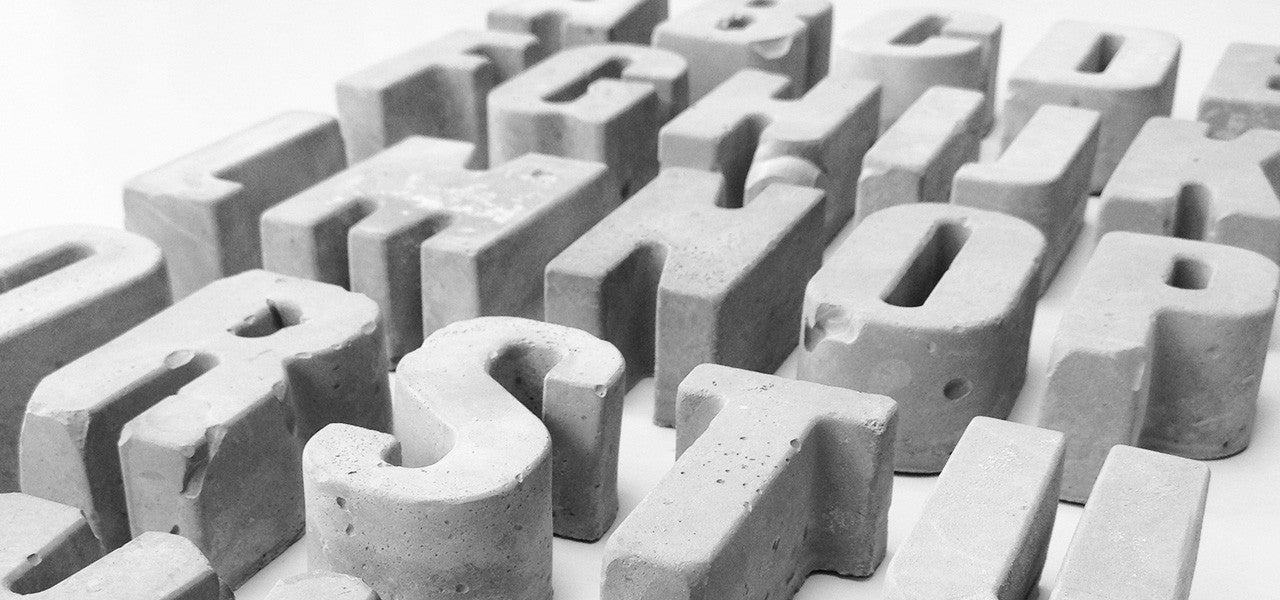 Concrete Design Letters and Numbers by MOXON London