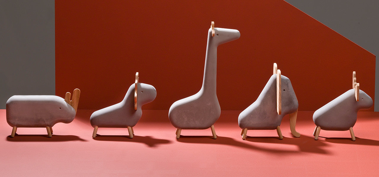 Concrete Animal set by MOXON and Korridor