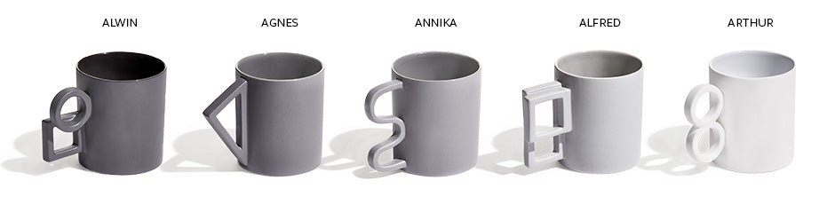 The Shapes Mug Collection by Aandersson Design at MOXON UK