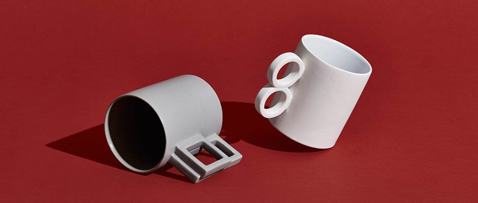 AANDERSSON Designer Coffee Mugs with various shaped handles