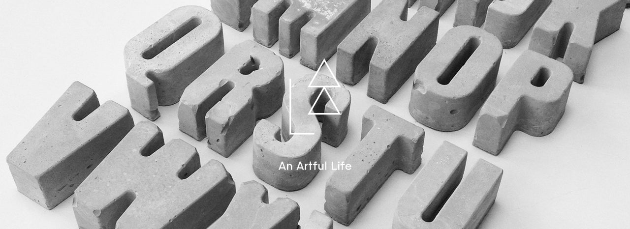 An Artful Life Concrete Letters and Numbers MOXON