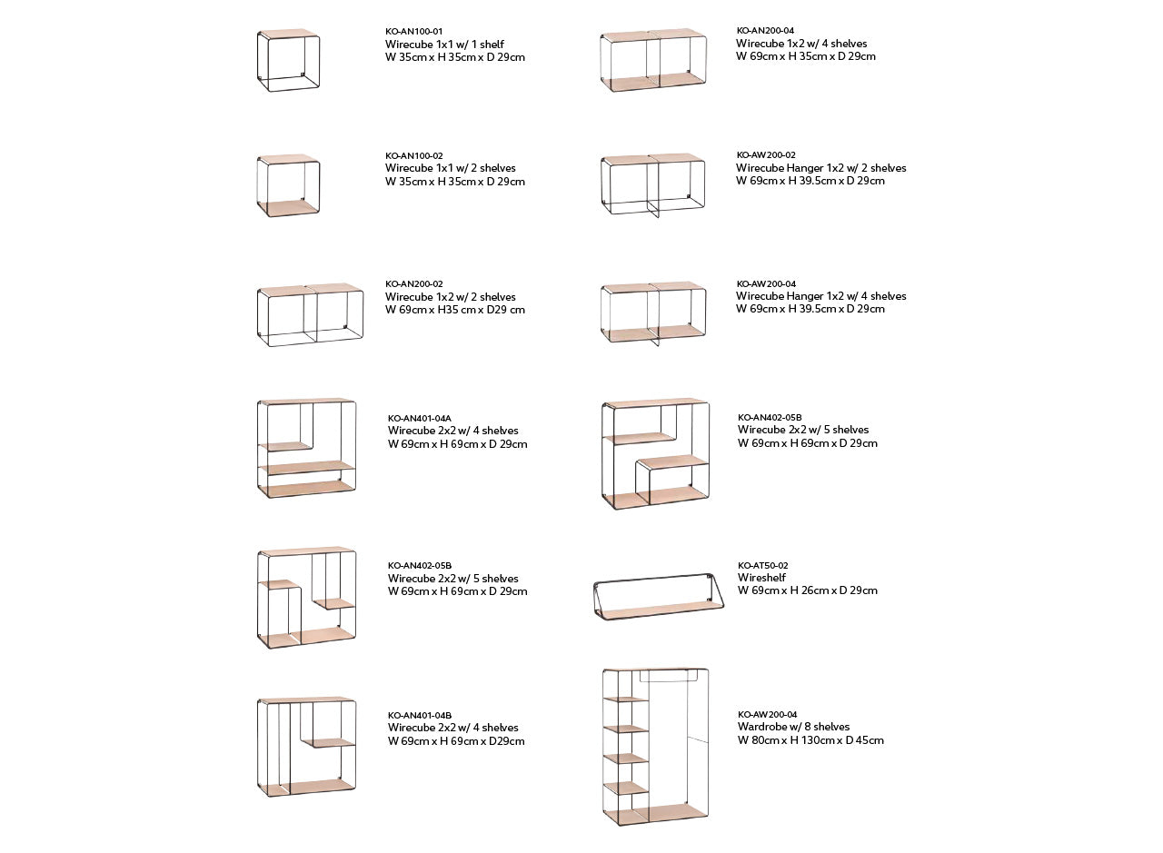 Anywhere Shelving System Dimensions