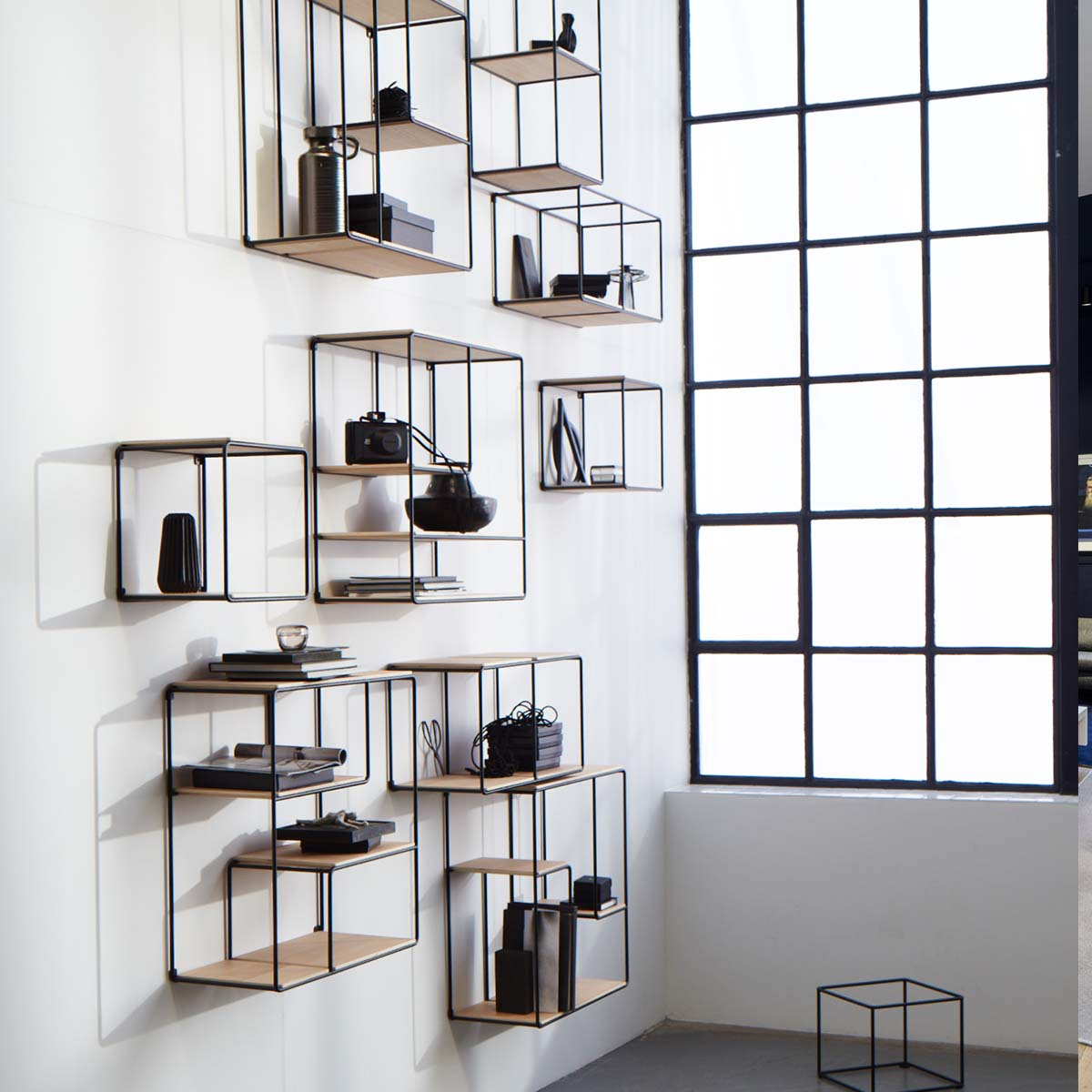 Anywhere modular shelving system