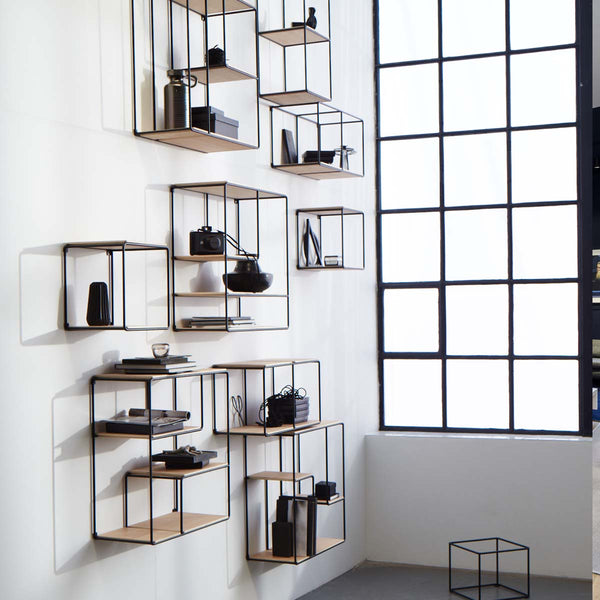 Anywhere modular shelving system for interior design projects