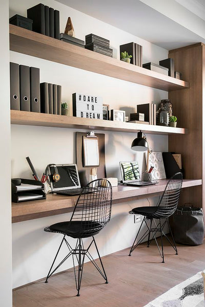 Stylish Home Office layout for 2 people