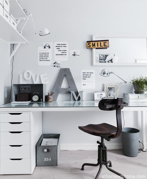 Contemporary home office layout