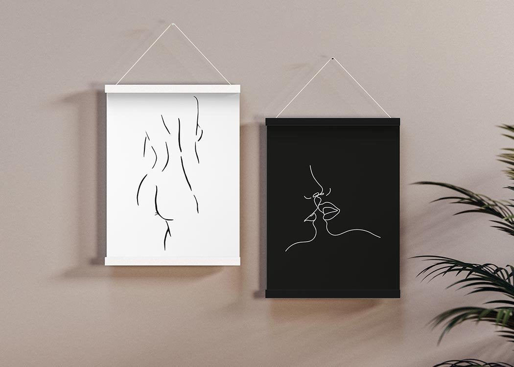 Curves Art Print In A Magnetic Poster Frame