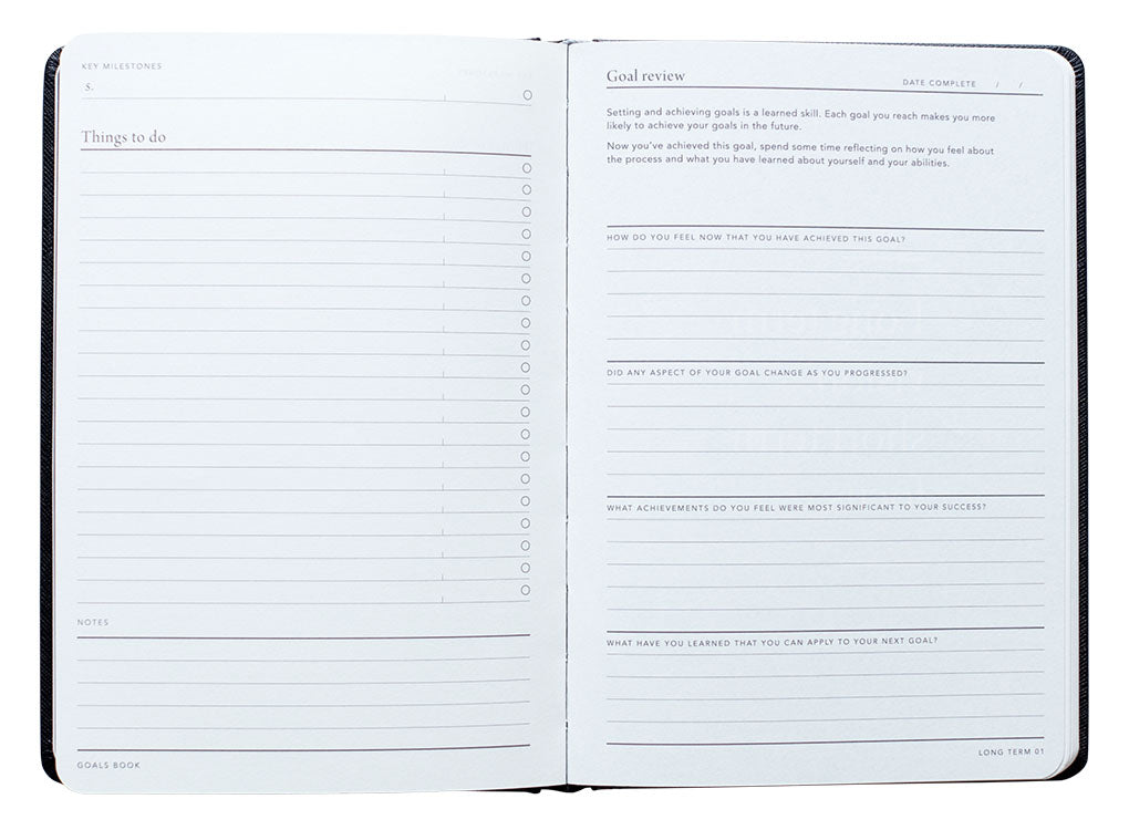 Write down your goals in the MiGoals goal journal