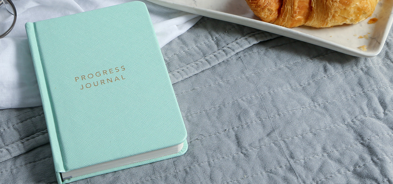 MiGoals Mint Green Progress Journal Goal Book by MOXON
