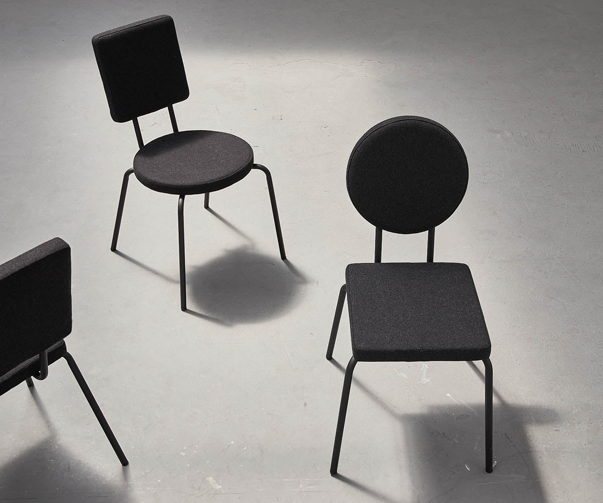 Option Squares And Circles Designer Dining Chairs By Puik