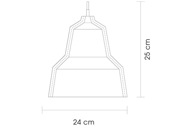 LLOYD Leather Lampshade Dimensions