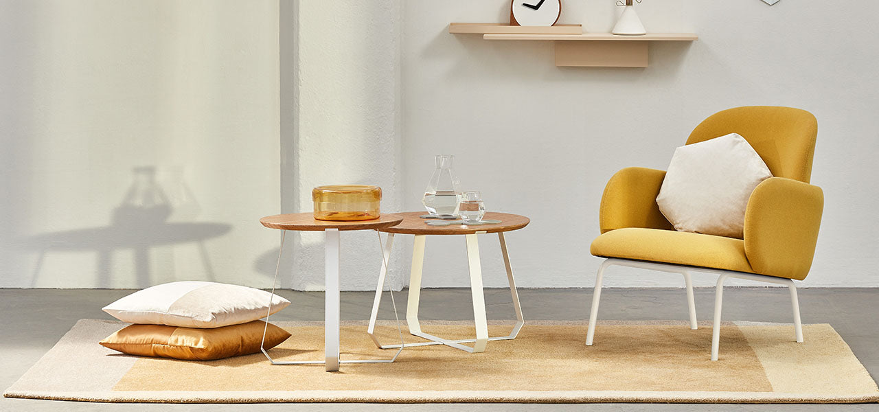 SHUNAN contemporary coffee table and side table design by PUIK