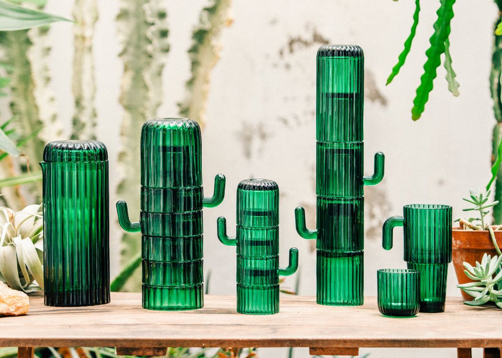 Cactus shaped stacking Glasses from Doiy