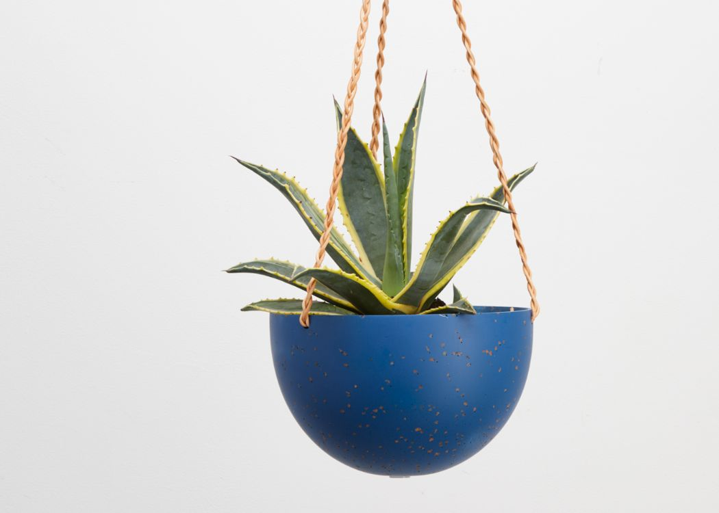 CAPRA DESIGNS NEPTUNE TERRAZZO DOME HANGING PLANTER IS SKILLFULLY HAND MADE FROM RESIN AND FINISHED WITH TAN LEATHER. Each planter has a hole in the bottom for drainage and a plug for convenience. Worldwide shipping. Free UK shipping.