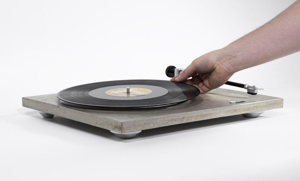 Concrete Turntable Vynil Record Player Design