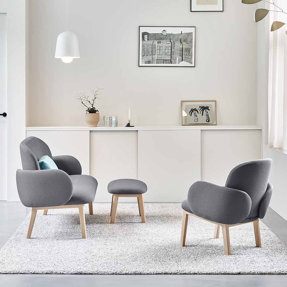 Dost contemporary lounge chair collection by Puik Design at MOXON