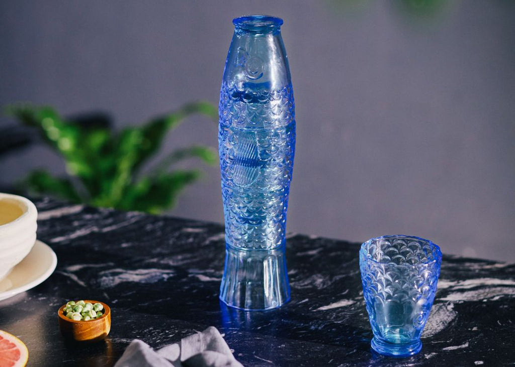 KOIFISH BLUE STACKING GLASSES FROM DOIY