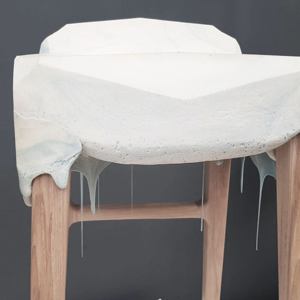 Melting Dripping Foam Bar Stool Design
