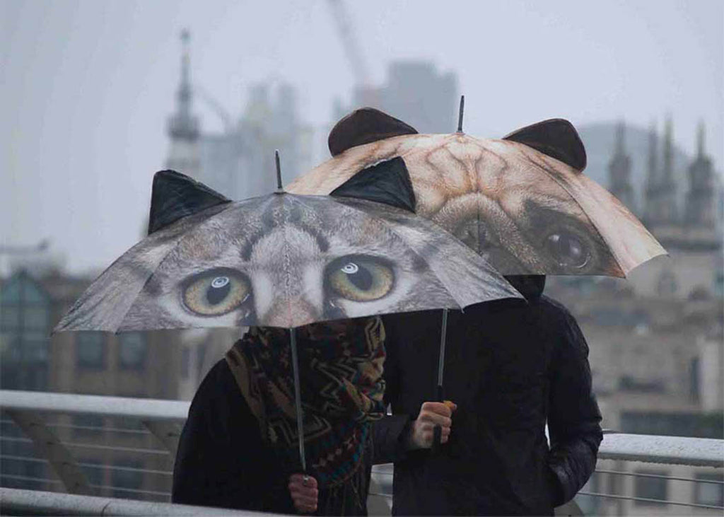 Cat and Pug Umbrella