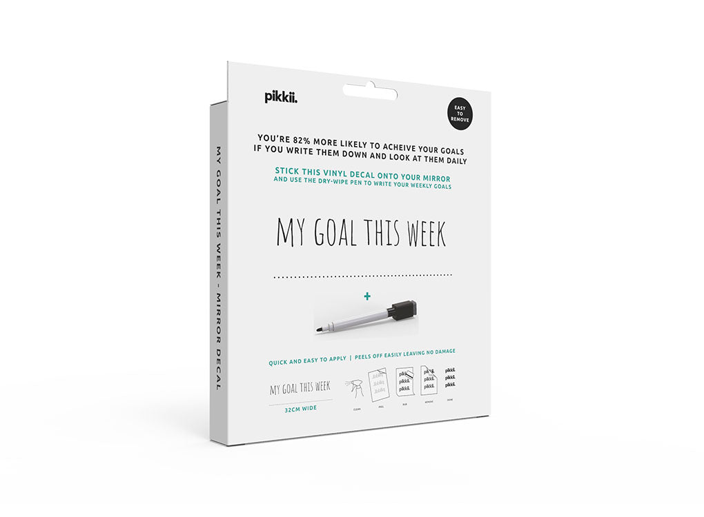 My Goals This week Packaging and instructions