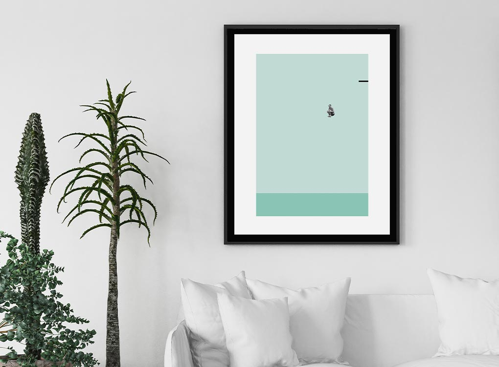 Pool Bomb Art Contemporary Art Print