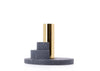 Ply candle holder by Puik in the colour black