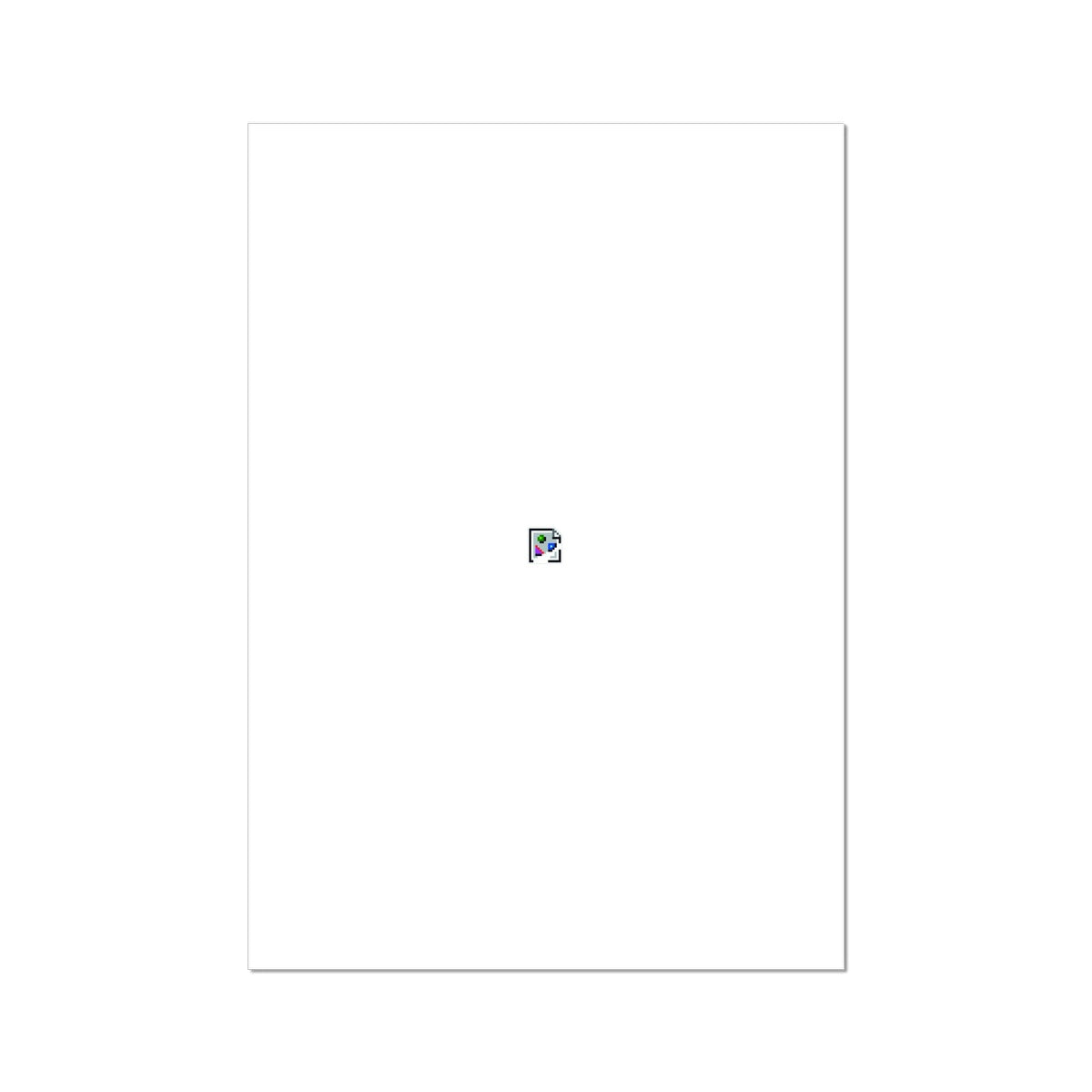 Image Not Found Art Print On A White Background