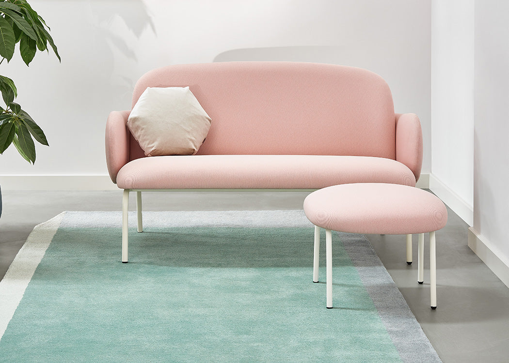 Dost Footstool in pink