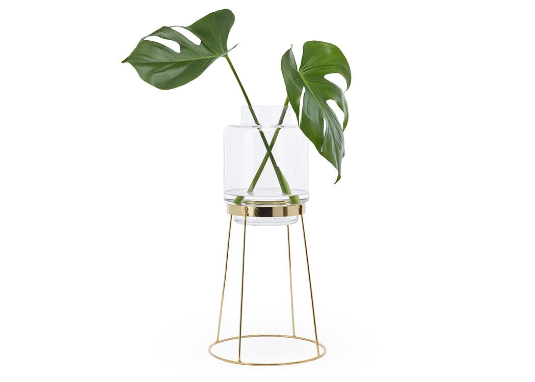 Monday Vase Stand with green plant