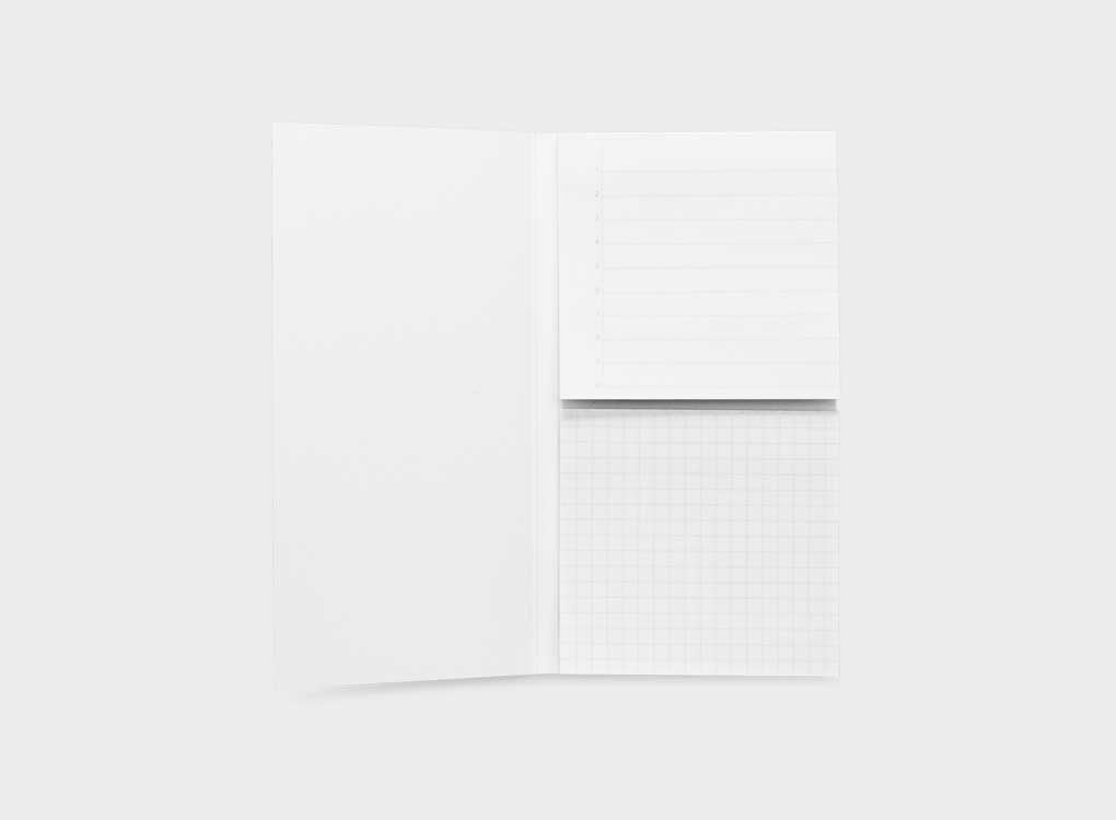 Grid and line Adhesive sticky notes. Personalise your notebook with these sticky notes from Appointed. Grid and lined available