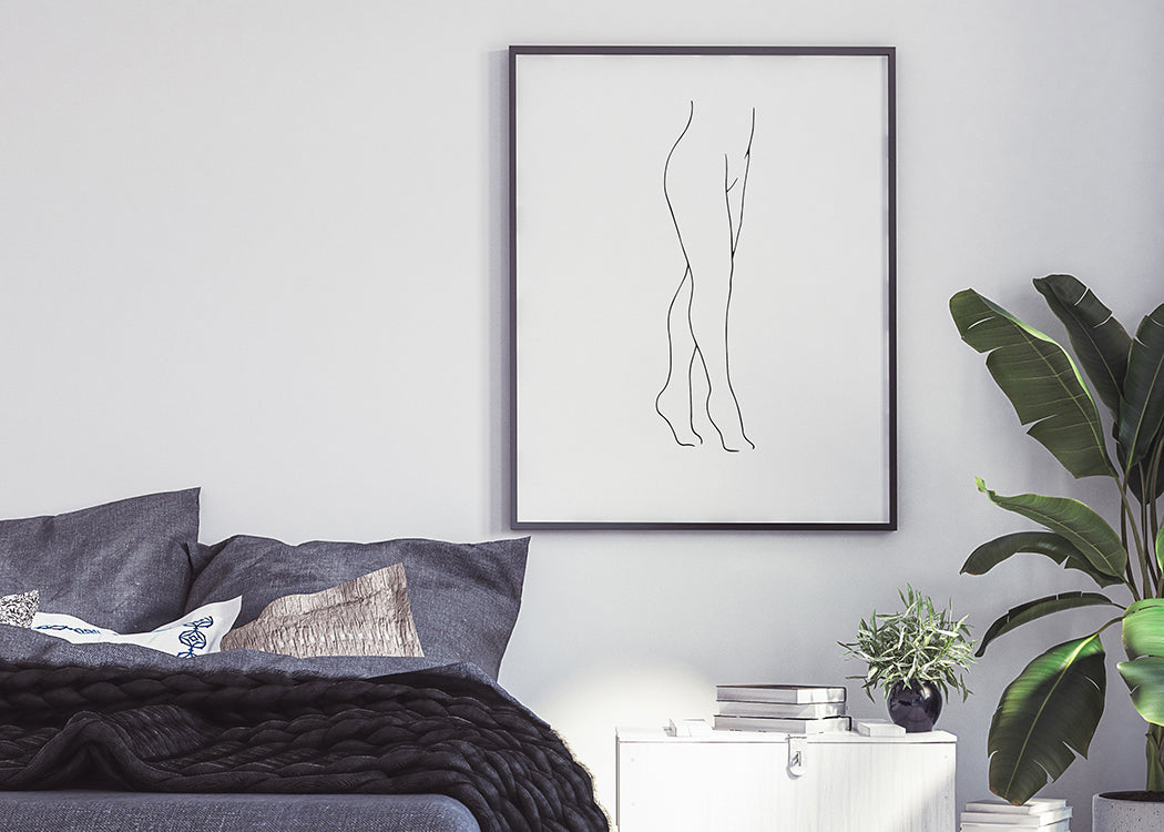 Legs Art Print On A White Background