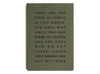 Khaki A5 Manifesto desk pad to do list journal