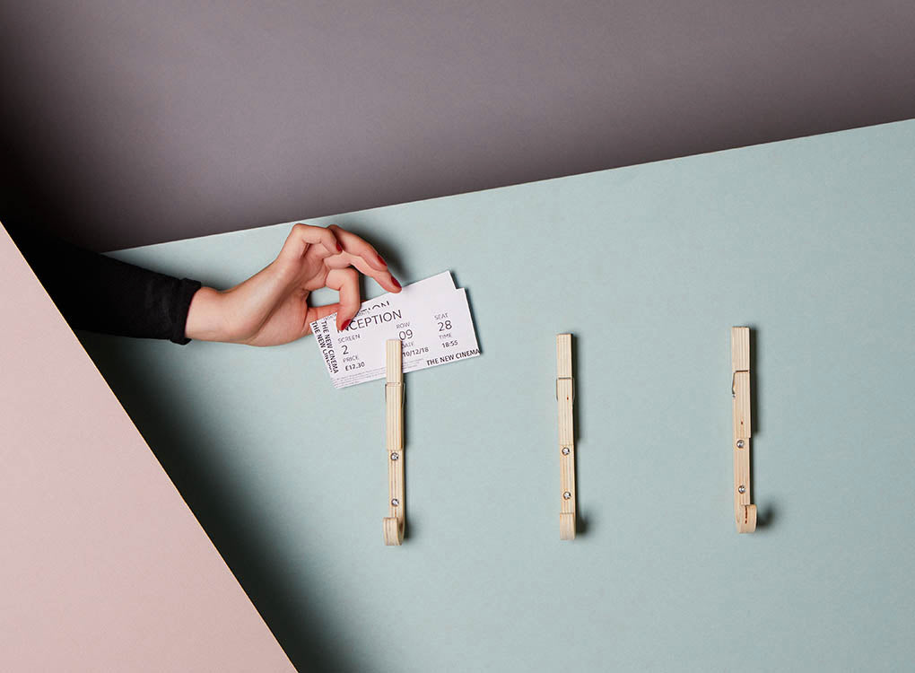 Contemporary Wooden Coat Hooks with Handy Pegs