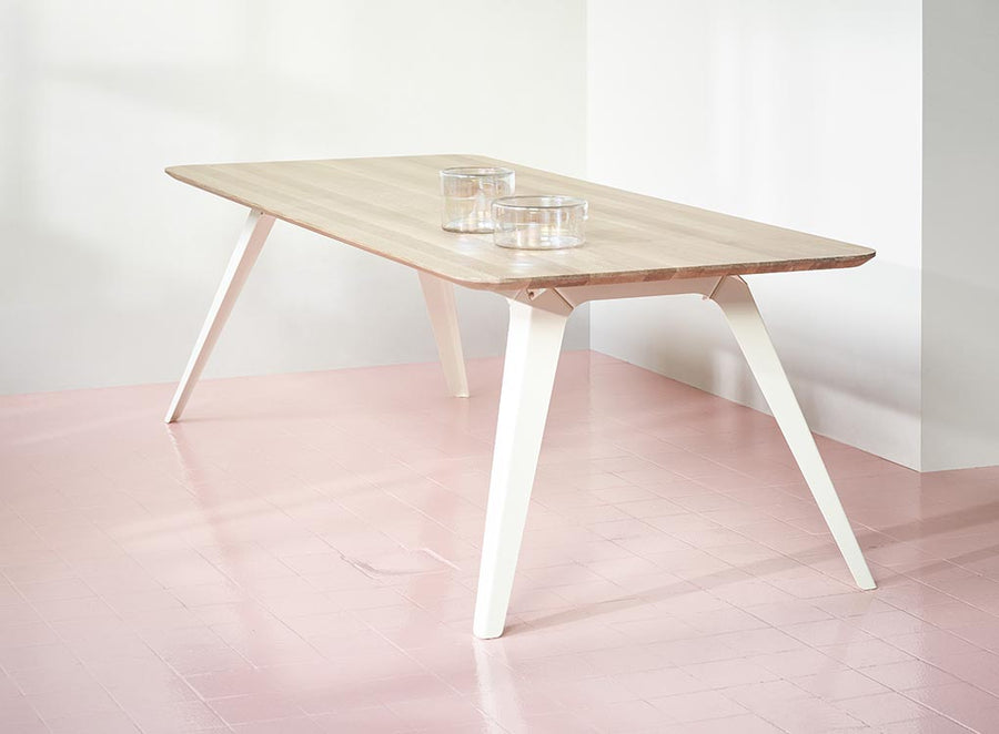 FOLD oak steel dining table by puik design