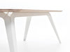 FOLD table oak with white steel by Puik Design at MOXON