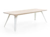 FOLD table oak with white steel frame by Puik Design
