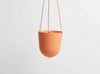 Capra Designs hand-made hanging plant pot in Desert with leather straps to hang. Hanging planters from Melbourne.