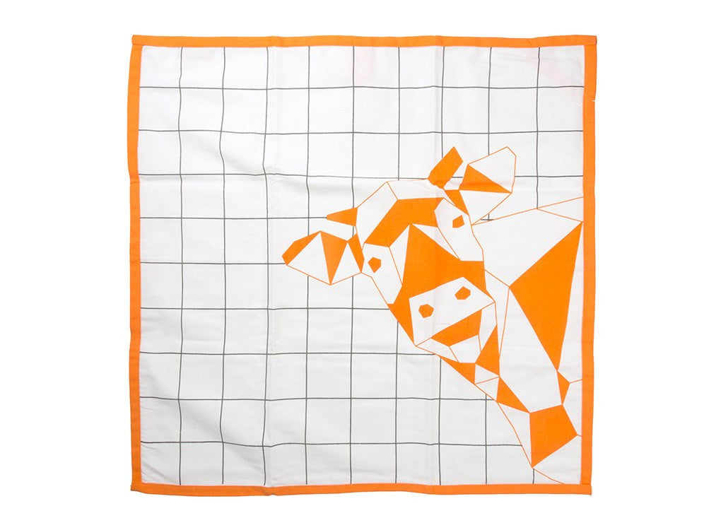 Geometric Cow Tea Towel by MOXON London