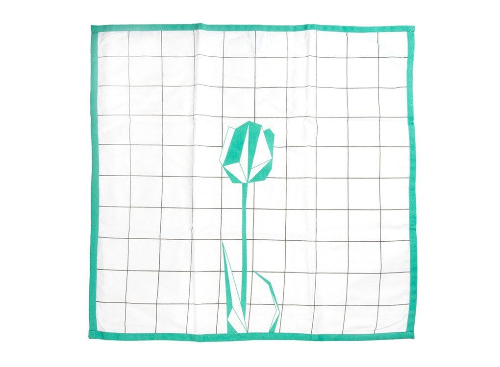 Geometric Tulip Tea Towel by MOXON London