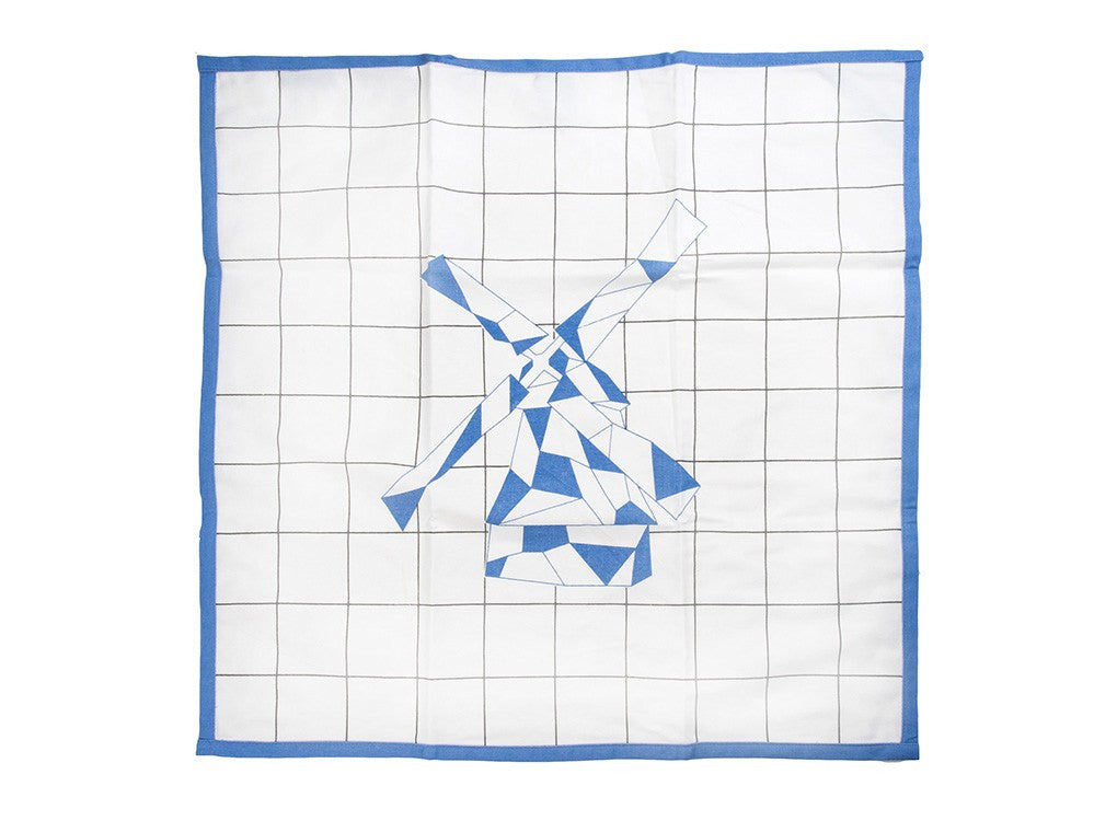 Geometric Windmill Tea Towel by MOXON London