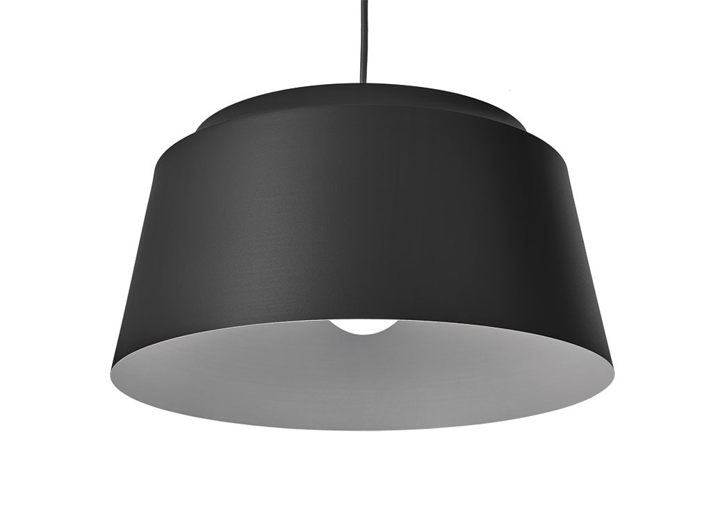 large black groove lampshade