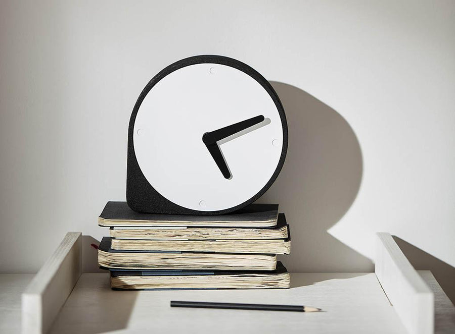 natural contemporary Clork mantel cork clock by Puik Art