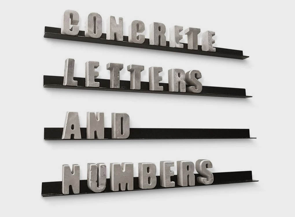CONCRETE LETTERS + NUMBERS