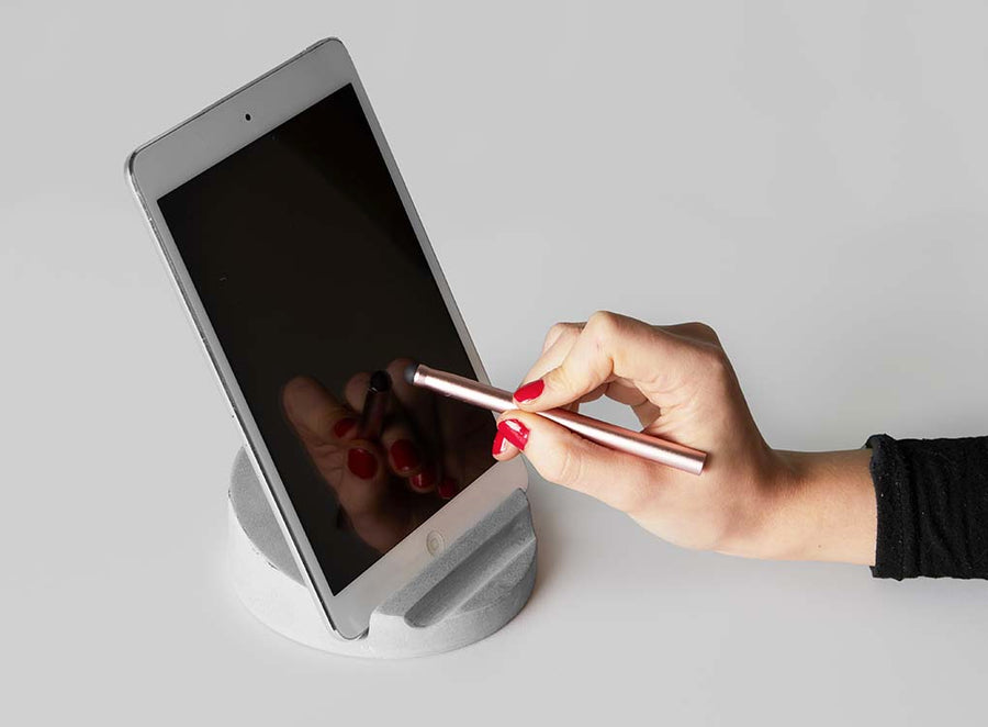 CONCRETE TABLET HOLDER + STYLUS