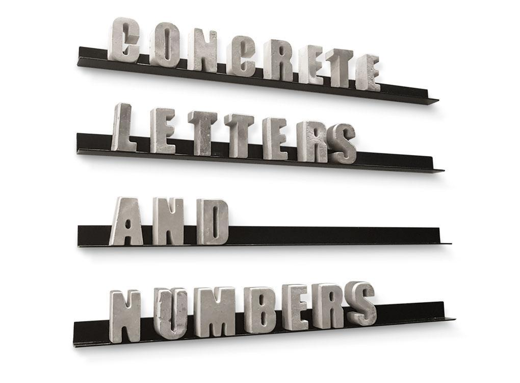 concrete letters and numbers by Puik Art personalized gift
