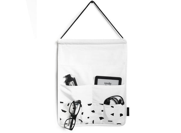 MOXON Shapes Hanging Organiser with black and white Memphis print