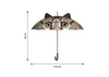 The dimensions of the Animal Umbrella by Pikkii. 85cm tall by 100cm wide.