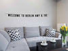 Personalised Wall Banner saying Welcome to Berlin